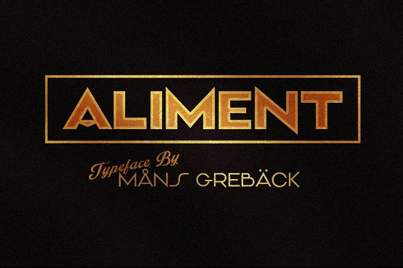 Aliment - Five Weight Font!
