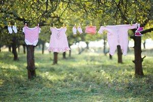 Pink baby wear