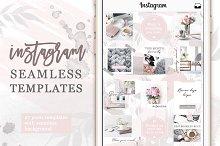 Instagram Posts Seamless Template