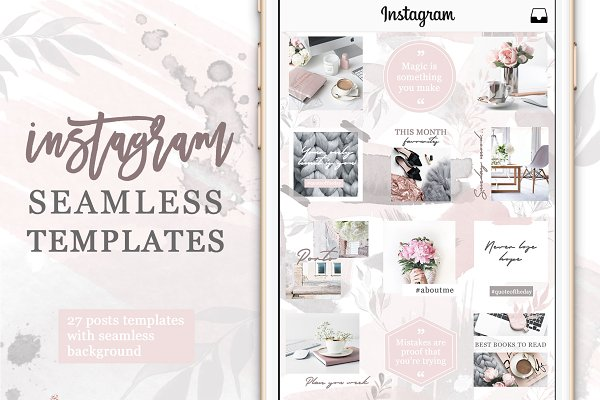 Instagram Posts Seamless Template