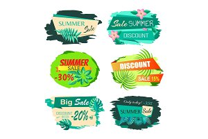 Collection Discount Emblems Off Summer Sale Advert