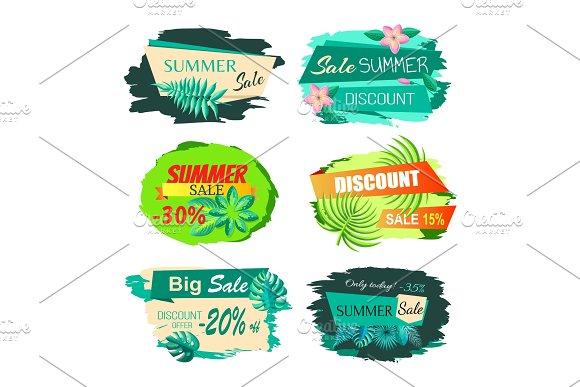 Collection Discount Emblems Off Summer Sale Advert