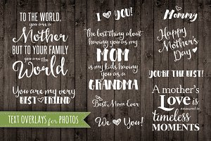 Mother Quote Phrases Overlays PNG