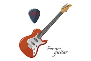 Fender guitar electric instrument most iconic in music.