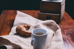 Breakfast with freshly ground coffee