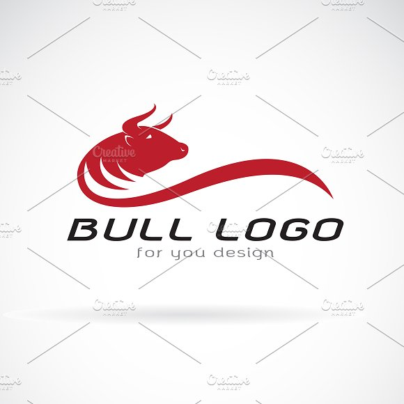 Vector Of Red Bull Design Animals
