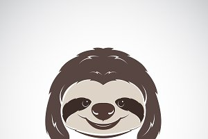 Vector of a sloth head. Wild Animals