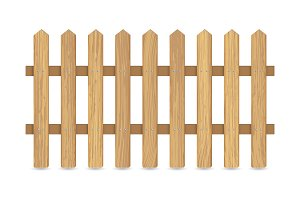 Fence of wooden boards