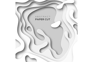 Abstract background with white paper