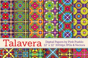 Talavera Digital Papers/Backgrounds