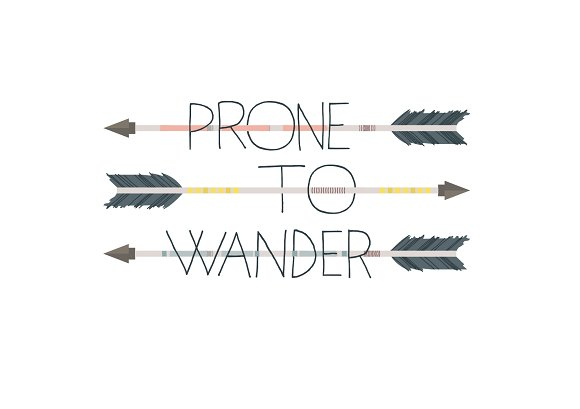 Prone To Wander Vector