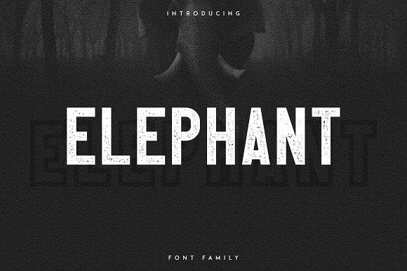 Elephant Font Family 50%