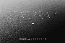 SEA SPRAY - minimal logo font