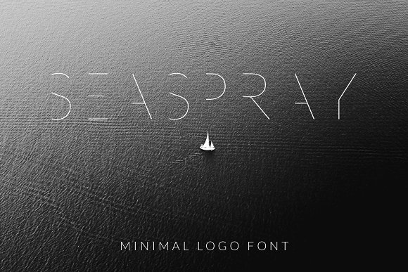 SEA SPRAY Minimal Logo Font