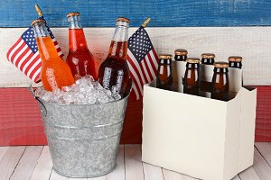 Soda and Beer Patriotic Background