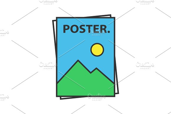 Poster Template Color Icon