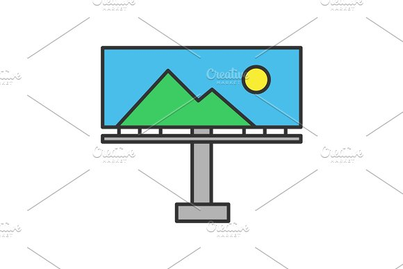 Billboard Mockup Color Icon