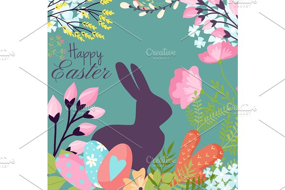 Easter Background Design Vector Holiday Celebration Party Wallpaper Greeting Colorful Egg Fabric Textile Illustration