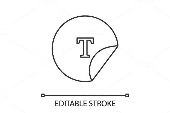 Round Sticker Linear Icon