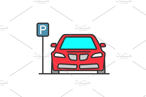 Parking Zone Color Icon