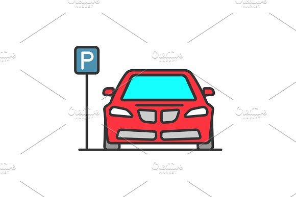 Parking Zone Color Icon