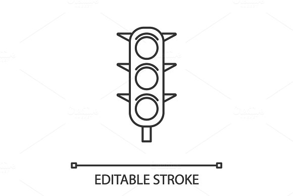 Traffic Lights Linear Icon
