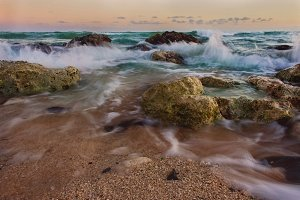 Ocean with Rocks {Oahu Beach}