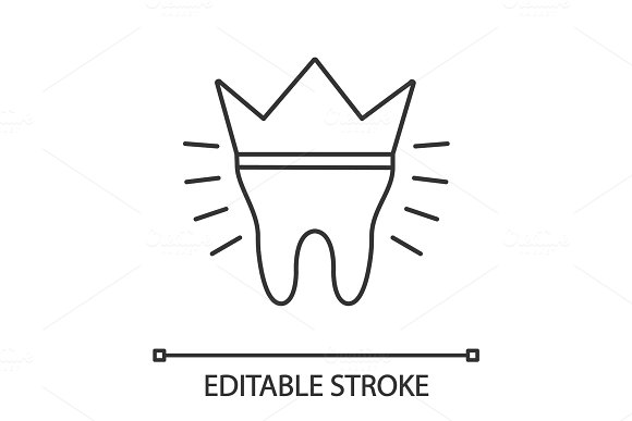 Dental Crown Linear Icon