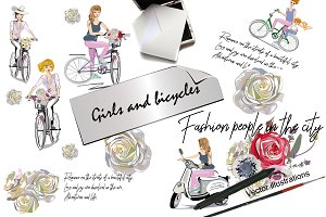 Girls and bicycles.