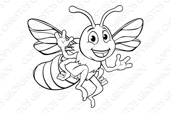Bumble Honey Bee Cartoon Character