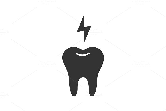 Toothache Glyph Icon