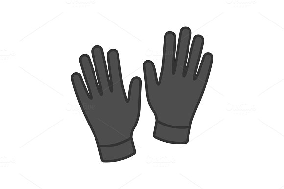 Medical Or Household Gloves Color Icon
