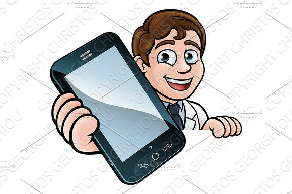Doctor Or Scientist Phone Concept