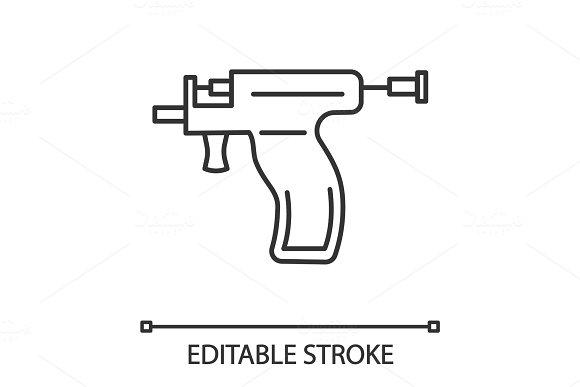 Piercing Gun Linear Icon