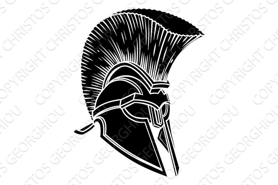 ee7c14aebfe Spartan Trojan Roman Gladiator Helmet ~ Illustrations ~ Creative Market