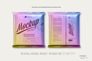 Flow-pack Snack Package Mockup F&B