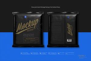 Flow-pack Snack Package Mockup F&B