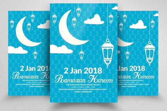 Ramadan Mubarak Flyers Template