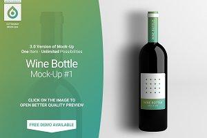 Wine Bottle Mock-Up #1 (V3.0)