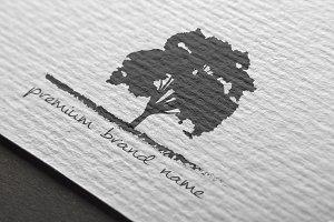 Premium Tree Logo - Mock-Up & Vector