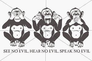 The three wise monkeys