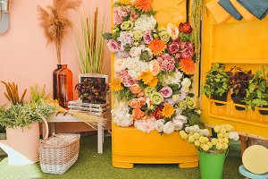 Flower Decoration Photo Zone