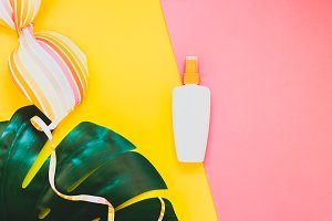 Summer vacations creative flat lay