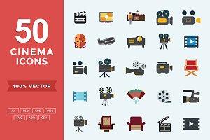 Flat Icons- Cinema Set