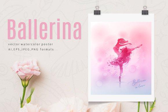 Watercolor Poster Ballerina