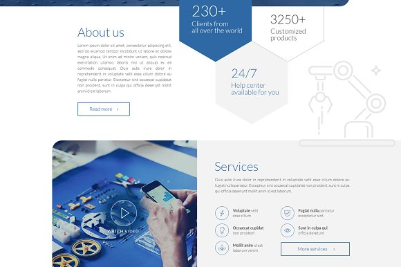 Blue Technology Landing Page