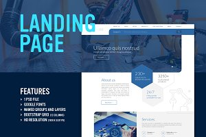 Blue Technology - Landing Page (PSD)