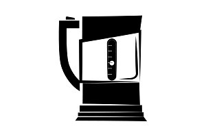 Electric teapot icon black on white