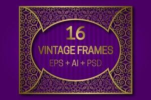 16 Vintage Frames 5:4