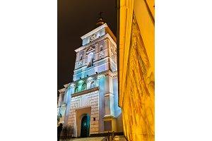 Frescoes and Bell Tower of St. Michael's Golden-Domed Monastery in Kiev, Ukraine